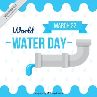 Fond plat du robinet avec de l'eau