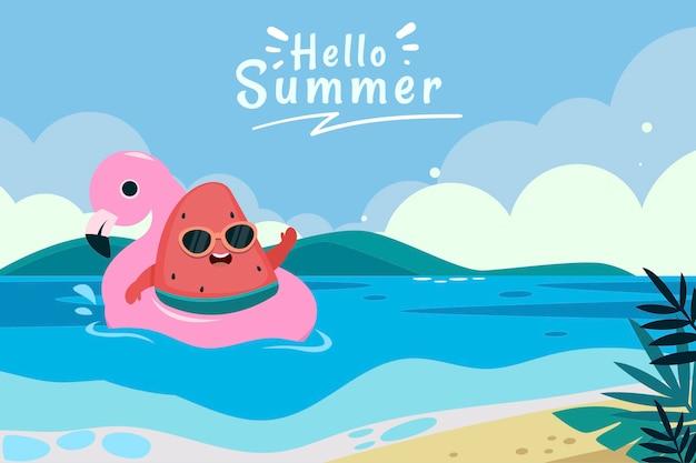 Fond plat d'été