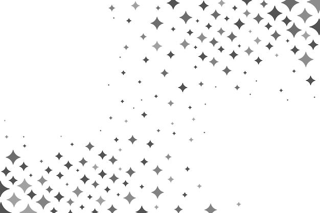 Fond plat étoiles brillantes