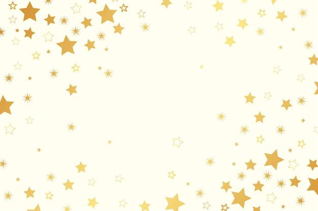 Fond plat d'étoiles brillantes