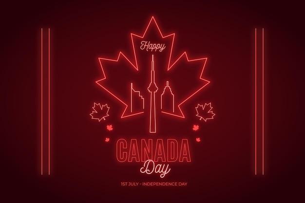 Fond plat de la fête du canada
