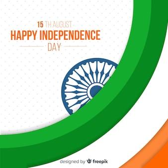 Fond plat de la fête de l'indépendance de l'inde