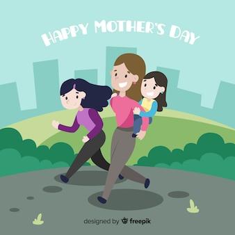 Fond plat de fête des mères