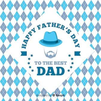 Fond plat de fête des pères