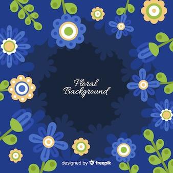 Fond plat floral