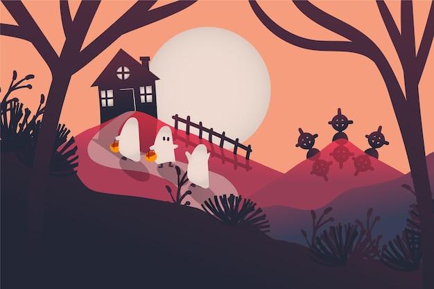 Fond plat d'halloween