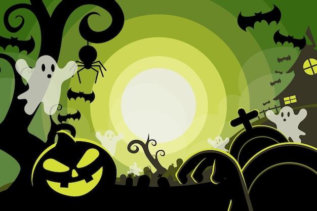 Fond plat halloween