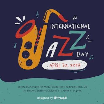 Fond plat international de jazz