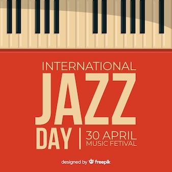 Fond plat international de jazz