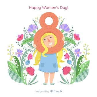 Fond plat de la journée des femmes