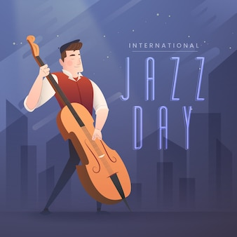 Fond plat de la journée internationale du jazz