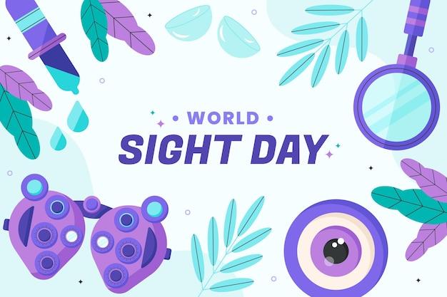 Fond plat de la journée mondiale de la vue