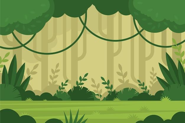Fond plat de jungle tropicale