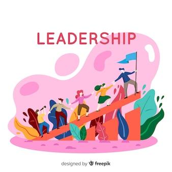 Fond plat de leadership