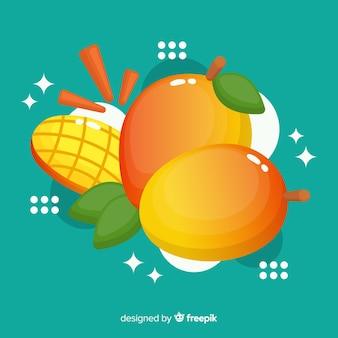 Fond plat de mangue