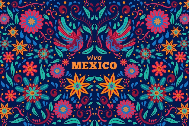 Fond plat mexicain cinco de mayo