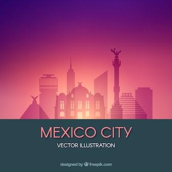 Fond plat mexico skyline