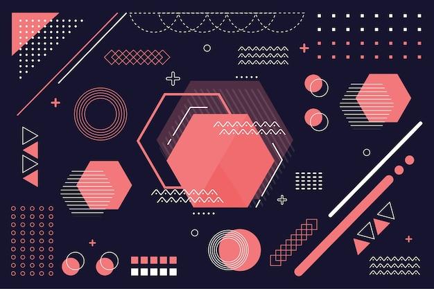 Fond plat de modèles géométriques