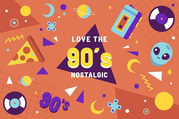 Fond plat nostalgique des années 90