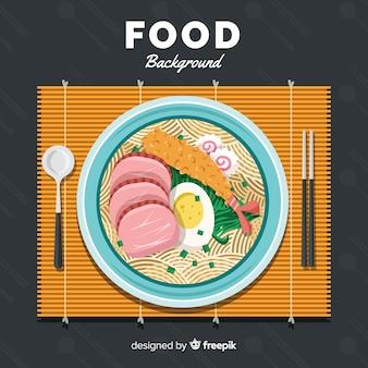 Fond plat de nourriture