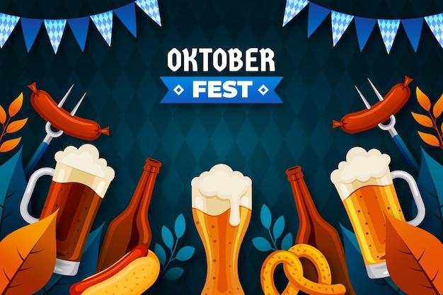 Fond Plat Oktoberfest Vecteur Premium