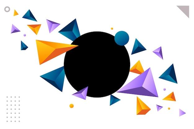 Fond Plat Polygonal Vecteur Premium