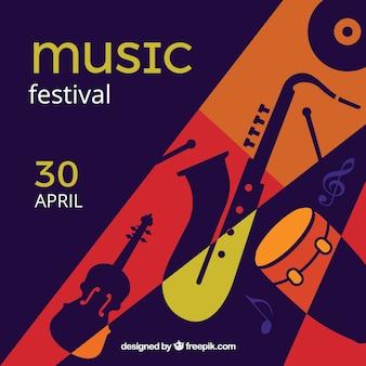 Fond plat pour un festival de musique