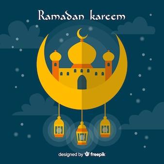 Fond plat de ramadan