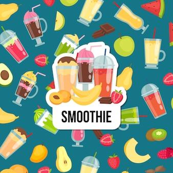 Fond plat smoothie