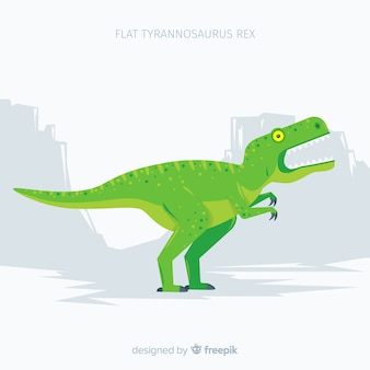 Fond plat de t-rex