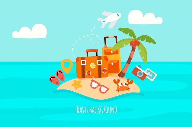 Fond plat de voyage