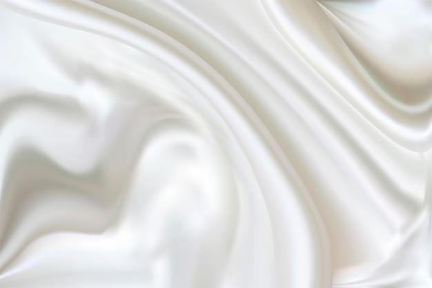 Fond de plis de soie. tamiser texture draperie blanche