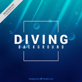 Fond plongée sous-marine
