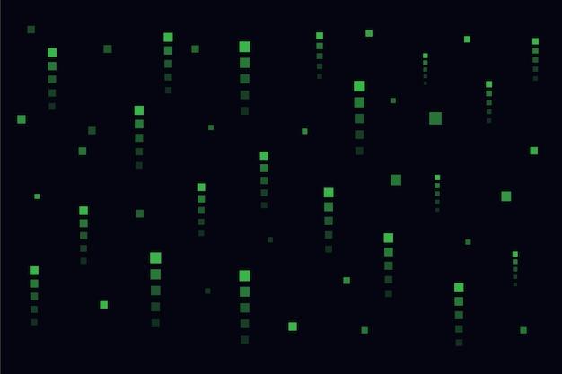 Fond de pluie pixel abstrait matrice