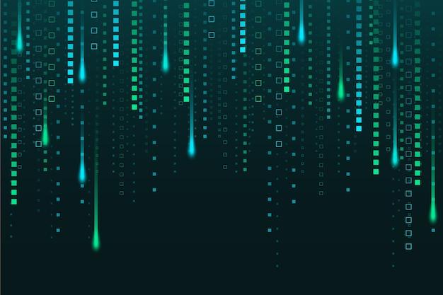 Fond de pluie pixel abstrait