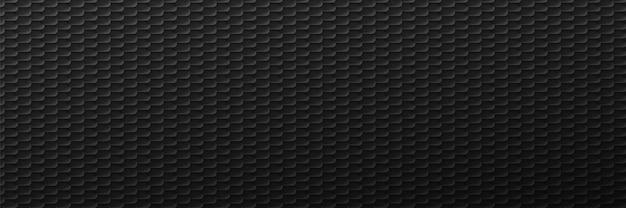 Fond de pneus noirs d'entrelacs industriel. coupe géométrique dans un décor minimaliste avec dégradé monochrome et design