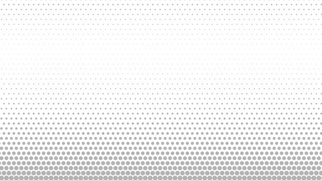 Fond de points de demi-teintes abstraites dans des couleurs grises