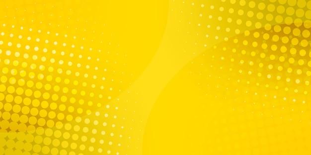 Fond de points de demi-teintes abstraites. illustration. fond de points jaunes. motif en demi-teintes