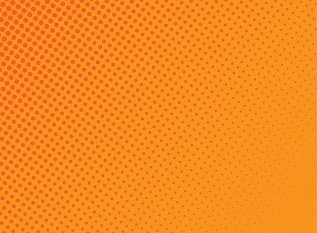 Fond de points de demi-teintes orange