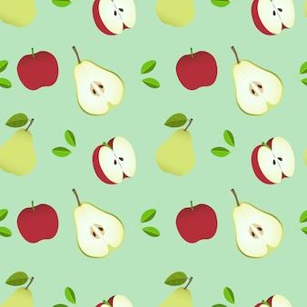 Fond de poire et pomme