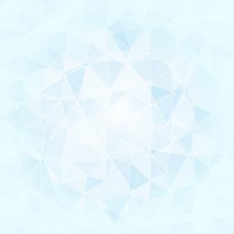 Fond poligonal abstrait dans les tons bleus et blancs, vecteur