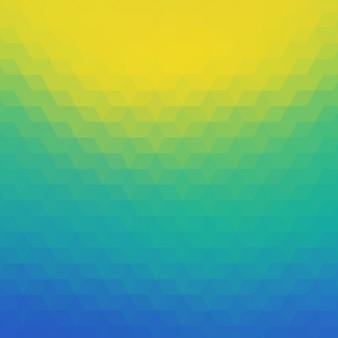 Fond polygonal en bleu, tuquoise et tons jaunes