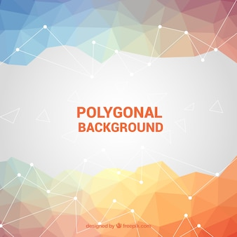 Fond polygonal en couleurs douces