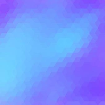 Fond polygonal dans des tons bleus