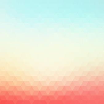 Fond polygonal dans des tons rouge et bleu