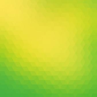 Fond polygonal dans des tons verts et jaunes