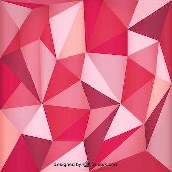 Fond polygonal rouge