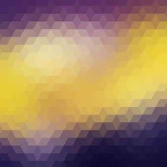 Fond polygonal en violet et jaune