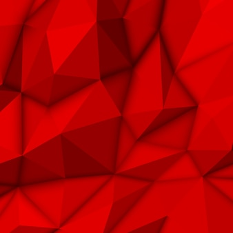 Fond polygonale abstrait rouge