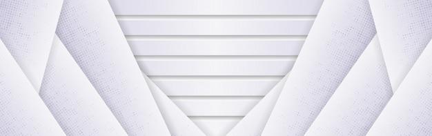 Fond polygonale blanc gris élégant